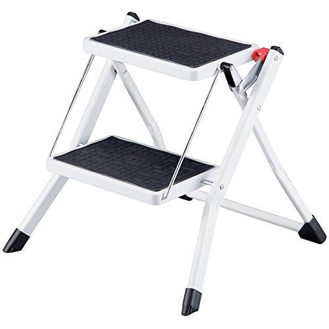 Compact Mini Folding 2-Step Stool Ladder