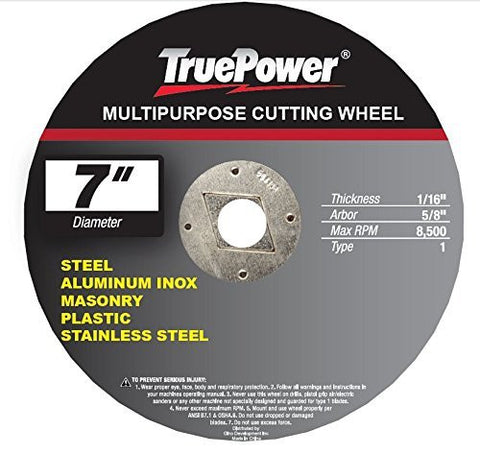 "TruePower 7"" Multi Function / Purpose Cut Off Wheel, One Blade Cuts All"