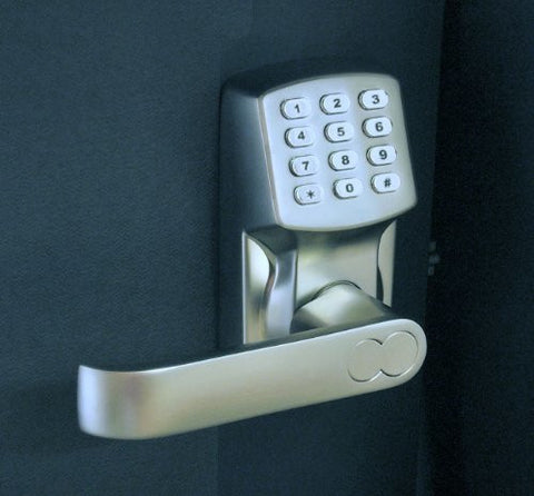 Electronic Keyless Door Lock Set - Satin Nickel (For Left-Hinged Doors Only)