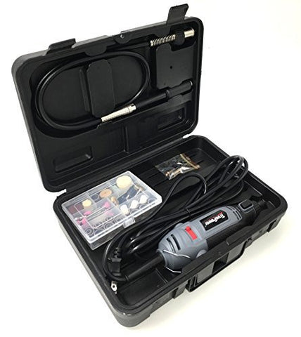 TruePower 1.5-Amp Electric Varialble Speed Rotary Tool with Flex Shaft, 80 Pieces and Carrying Case
