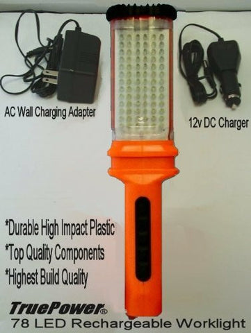 True Power Pro-Quality 78 Led Rechargeable Work Light