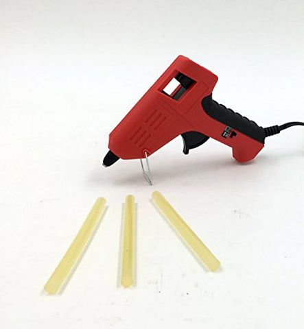 "Dual Temperature .28"" Mini Glue Gun Kit with 3 Glue Sticks"