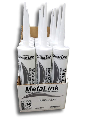 Chemlink MetaLink High Performance Silicone Metal Roof Sealant (Case of 12 Tubes) 10 oz