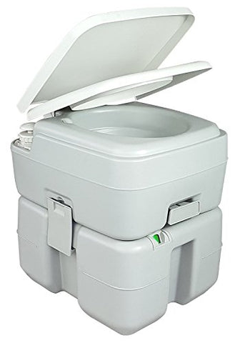 TruePower Portable Toilet - 5.3 Gallon w/ Level Indicator