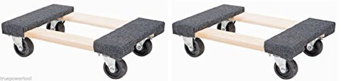 "TruePower 2 PACK 1000 LB Furniture Moving Dolly 12"" x 18"" Movers Heavy Duty Caster Appliance PRO!"