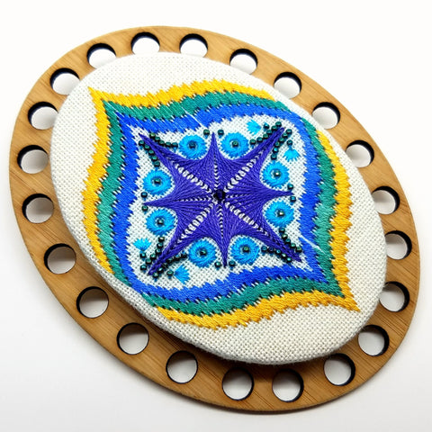 Peacock Medallion Palette Chart / Kit - Northern Expressions Needlework