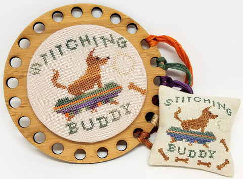 Stitching Buddy (Pup) Chart - Tempting Tangles Designs