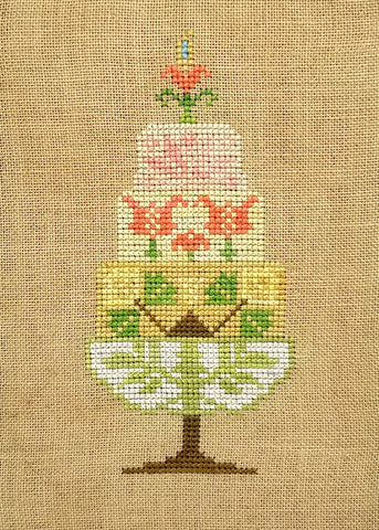 Quaker Cakes - March Cross Stitch Chart