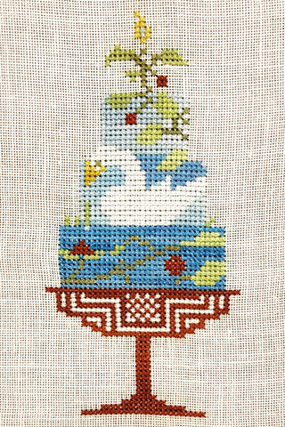 Quaker Cakes - June Cross Stitch Chart