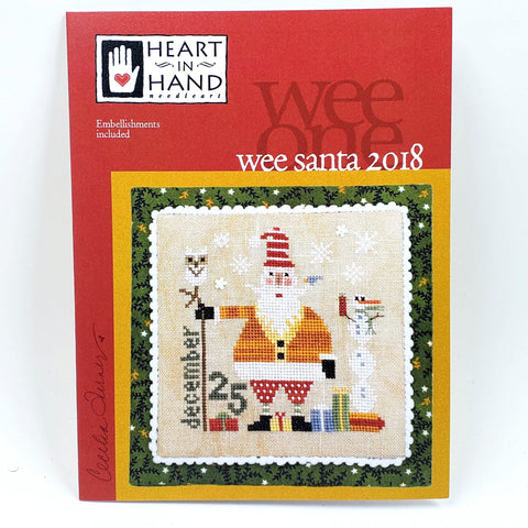 Wee Santa 2018 - Heart in Hand Cross Stitch Chart