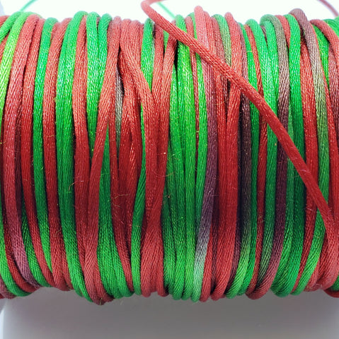 Christmas 1.5mm Satin Cording (per yard)