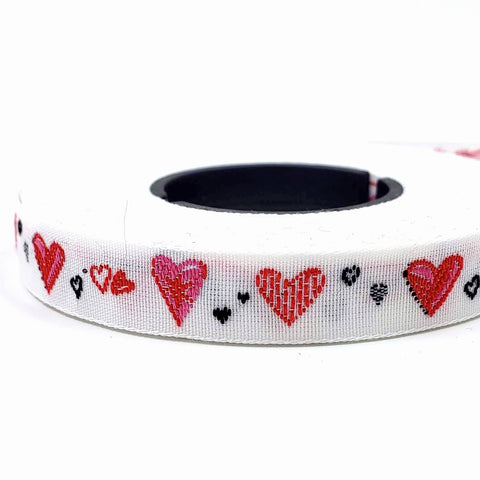 Dancing Heart Woven Ribbon