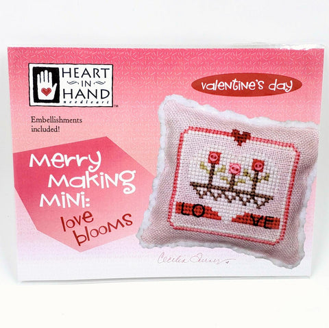 Merry Making Mini: Love Blooms - Heart in Hand Cross Stitch Chart