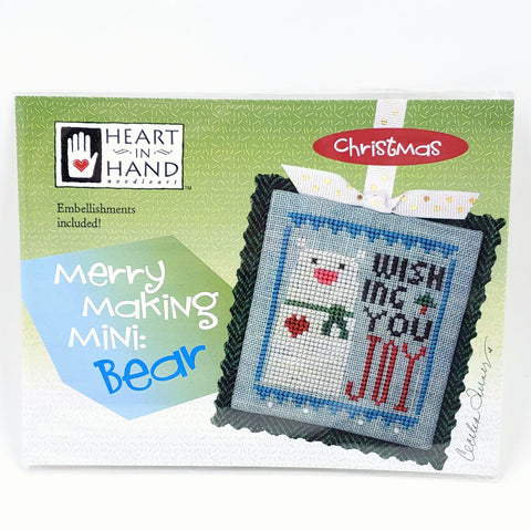 Merry Making Mini: Bear - Heart in Hand Cross Stitch Chart