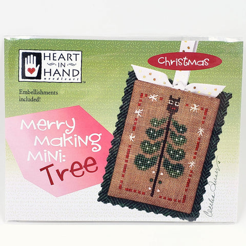 Merry Making Mini: Tree - Heart in Hand Cross Stitch Chart
