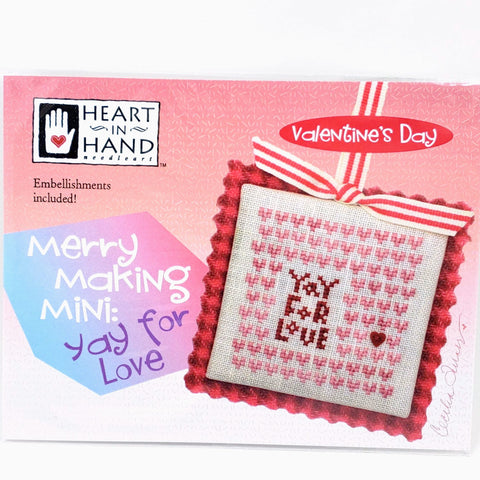 Merry Making Mini: Yay For Love - Heart in Hand Cross Stitch Chart
