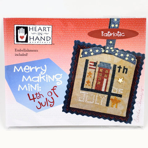 Merry Making Mini: 4th of July - Heart in Hand Cross Stitch Chart
