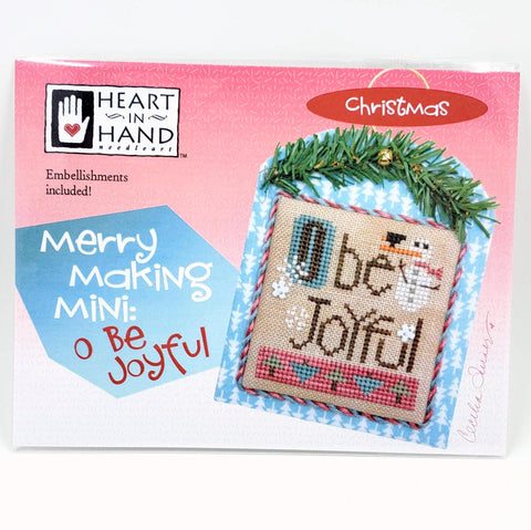 Merry Making Mini: O Be Joyful - Heart in Hand Cross Stitch Chart