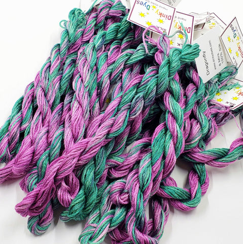Dragonfly Dinky Dyes Silk Floss (Colorway Debut)