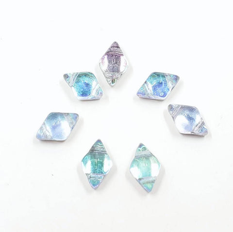 Diamond Duo Beads - Prismatic Icicle