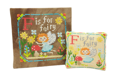 F is for Fairy - Happy Alphabet #6 - Cross Stitch Design by Tiny Modernist