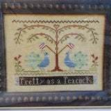 Pretty as a Peacock - Little House Needleworks Cross Stitch Chart