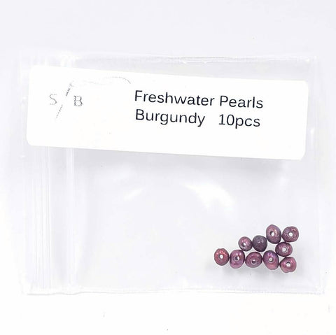 2-3mm Freshwater Pearls - Burgandy