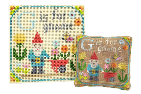 G is for Gnome - Happy Alphabet #7 - Cross Stitch Design by Tiny Modernist
