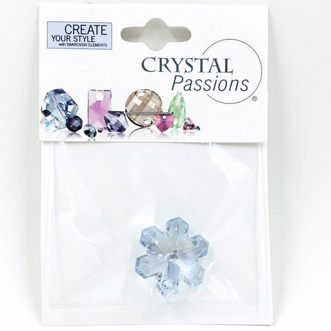 20mm Swarovski Snowflake Focal Pendant - Blue Shade