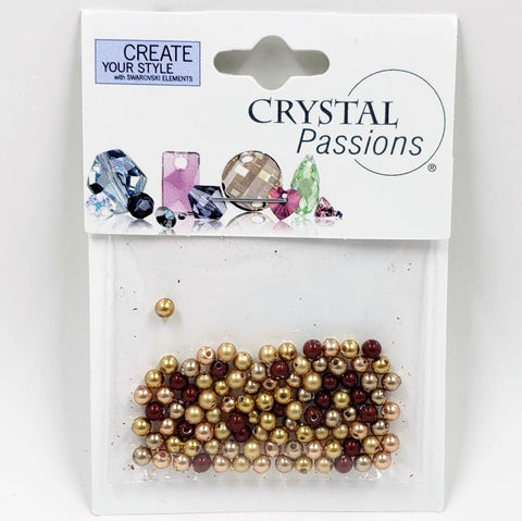 Swarovski 3mm Pearls - Autumn Mix