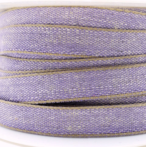 Purple Cotton/Linen Tape Ribbon