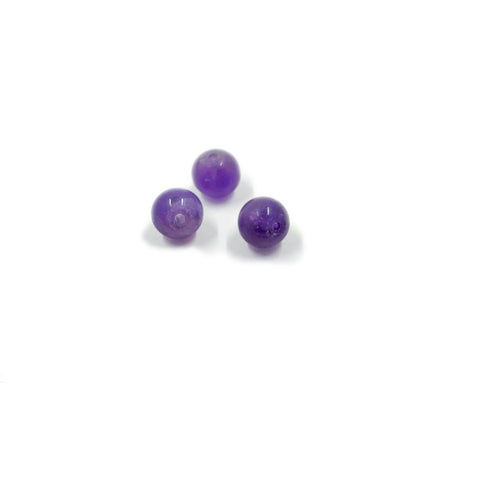 Natural Matte Amethyst 6mm Smooth Rounds