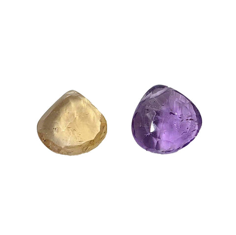 Ametrine Faceted Teardrop Focal