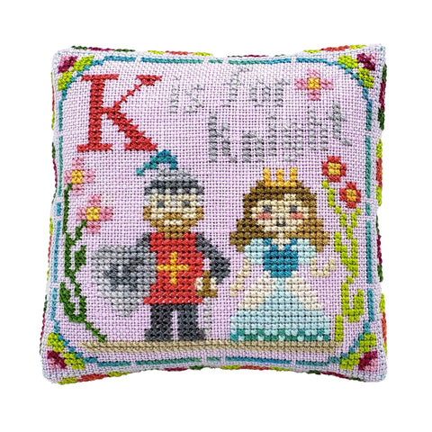 K is for Knight - Happy Alphabet #11 - Cross Stitch Design by Tiny Modernist