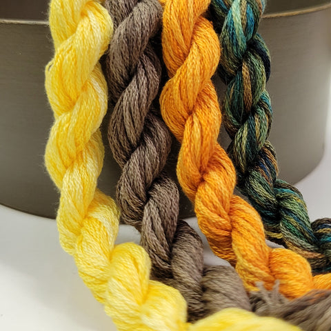 January 2021 Flower Silk Thread Club Package - 8 or 24 yard skeins
