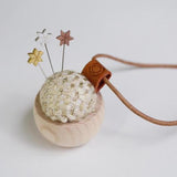 Tweed Pin Cushion w/ Star Pins - Cohana of Japan (Limited Edition)