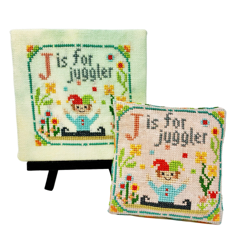 J is for Juggler - Happy Alphabet #10 - Cross Stitch Design by Tiny Modernist