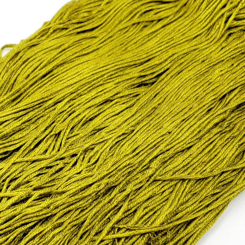 Acid Green - 8 yard skein - StitchySilk French Spun Silk - Limited Edition