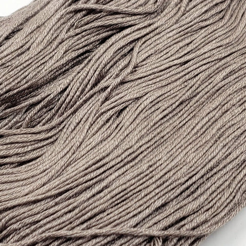 Ashen - 8 yard skein - StitchySilk French Spun Silk - Limited Edition