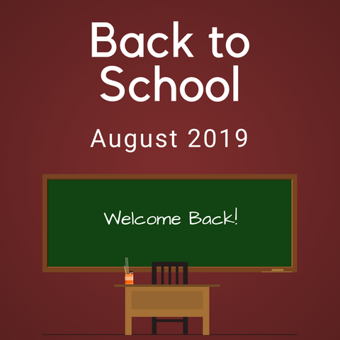 Back to School Color Countdown Shipment - August 2019