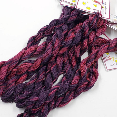 Black Widow 2.0 - StitchyBox Exclusive Silk Floss (Dinky Dyes)