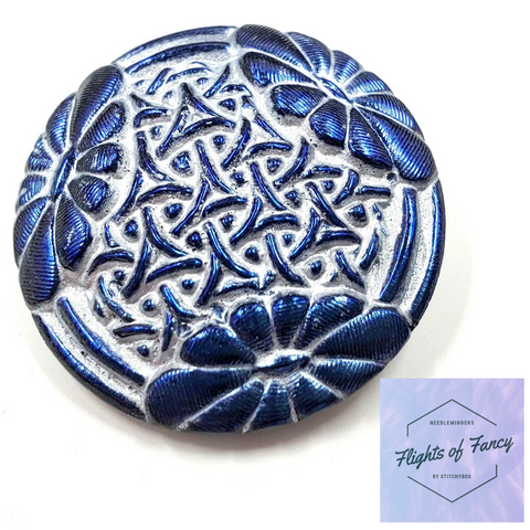 Blue Steel Flowered Lace - Flights of Fancy Needleminder