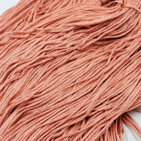 Cantaloupe - 8 yard skein - StitchySilk French Spun Silk - Limited Edition