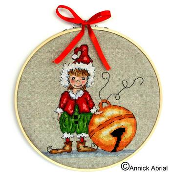 Christmas Elf cross stitch chart - Annick Abrial