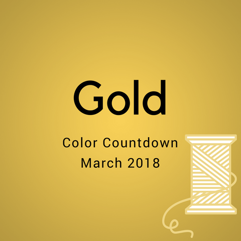 Gold Color Countdown Shipment - March 2018