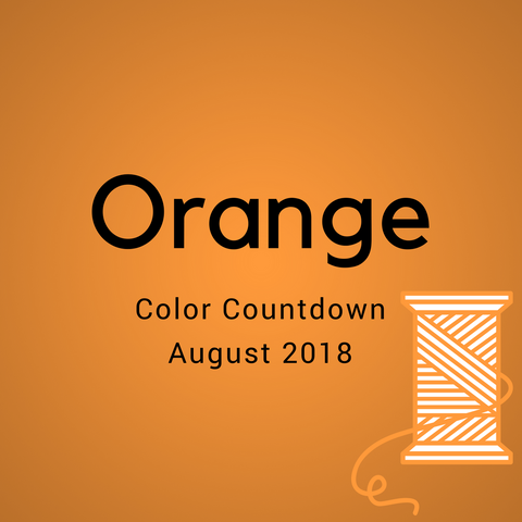 Orange Color Countdown Shipment - August 2018