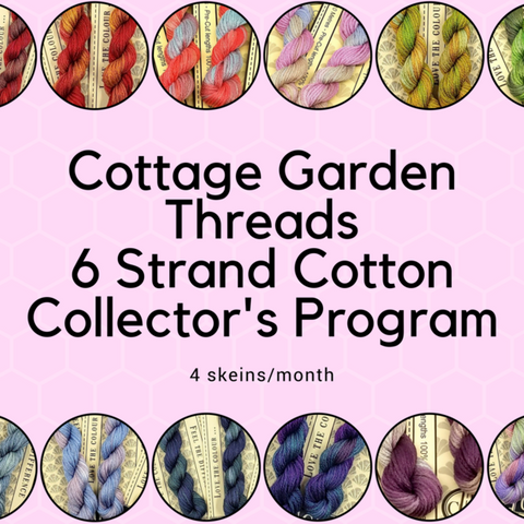 Prepaid 3/6/12 Month Cottage Garden Threads Collector's Club - 4 skeins per month
