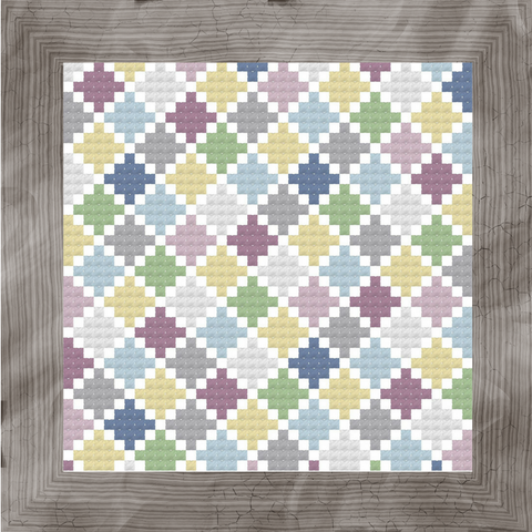 Diamond Path (Stash Mosaics #1) - StitchyBox Originals Chart