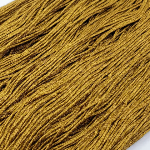 Drab Gold - 8 yard skein - StitchySilk French Spun Silk - Limited Edition