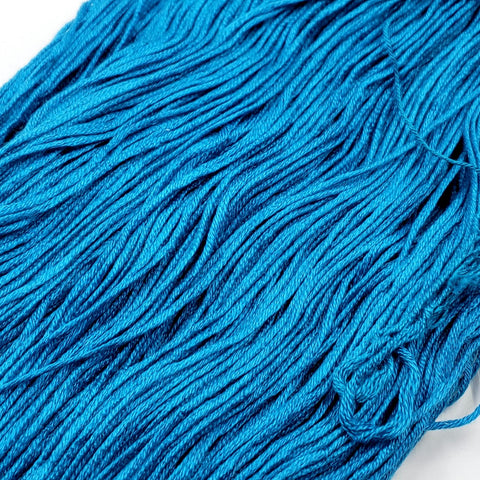 Electric Blue - 8 yard skein - StitchySilk French Spun Silk - Limited Edition